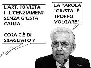 Mario Monti e l'art.18
