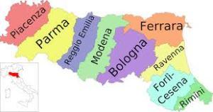 emilia romagna cartina