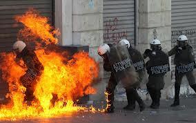 scontri in grecia