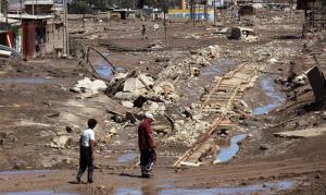 Cile, i danni dopo l'alluvione