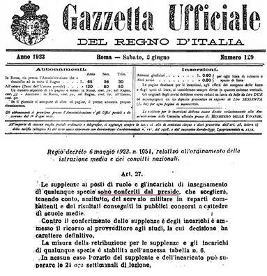 regio decreto
