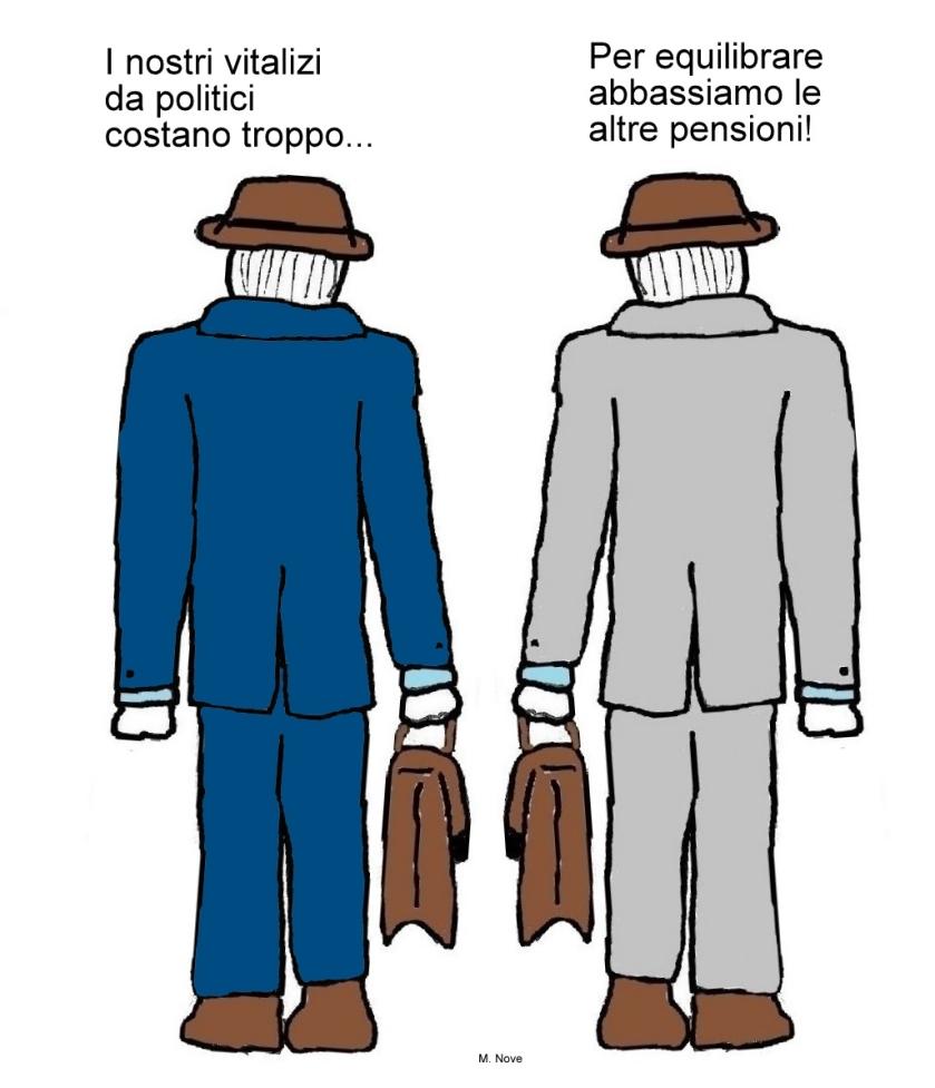 07 maggio - Vitalizio si, pensione no...