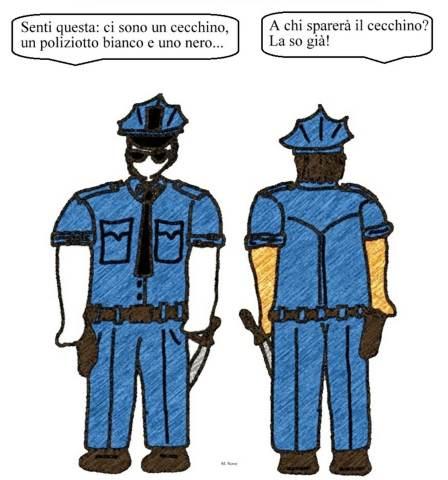 19 luglio - Si gioca al poliziotto... bianco o nero