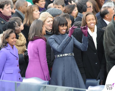Michelle Obama with Malia, 14, and Sasha, 11 at the Inauguration ceremonies for President Obama's second term at the US Capitol in Washington, DC on January 21, 2013. Photo by JMP-Douliery / ABACAUSA.COM LaPresse Only Italy