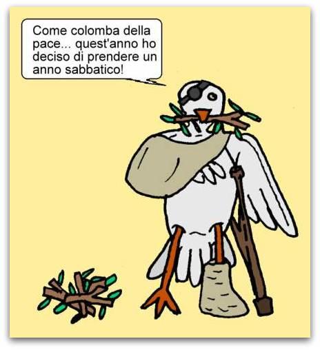 11 aprile - Le colombe hanno il loro daffare...