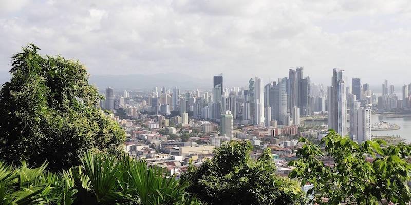 Cerro Ancon, view, Panama City, Panama, Panama, Central America, town, city