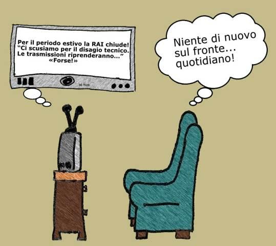 10 giugno - Molte trasmissioni TV vanno in ferie mentre chi lavora... no