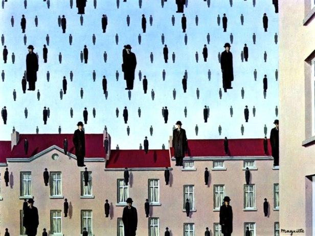 surrealismo_magritte_golconda_corrente-artistica_riassunto_due-minuti-di-arte