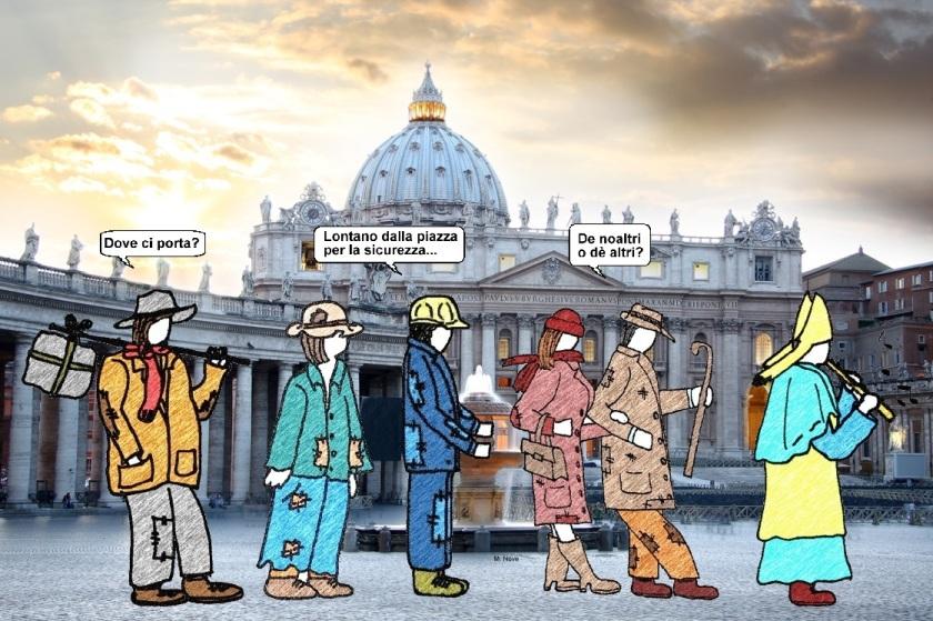 24 settembre - Il pifferaio «papale» allontana i clochard....jpg