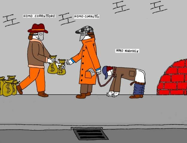 18 feb - Dilaga assai la corruzione... senza paura dell'assente punizione!