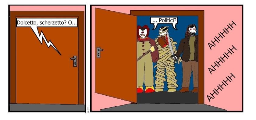 31 ott - Halloween viene una volta all'anno... la politica non si toglie neanche con un panno!.jpg