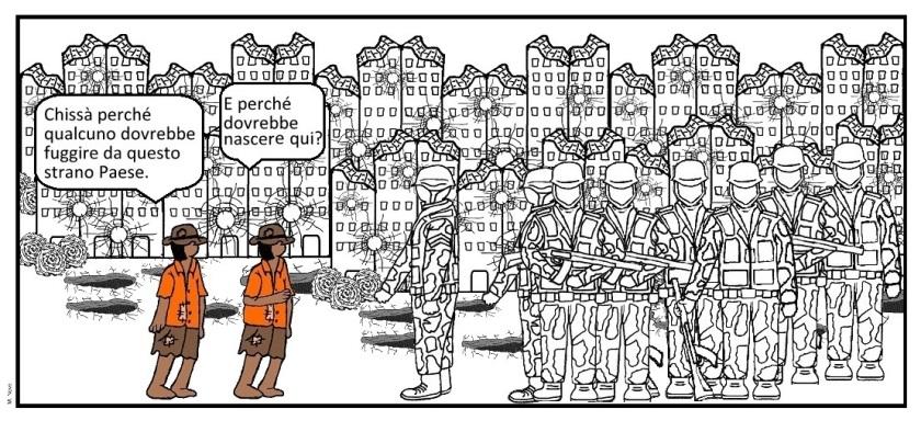 15 apr - Molti dalle guerre scappano... molti in altre parti non passano!