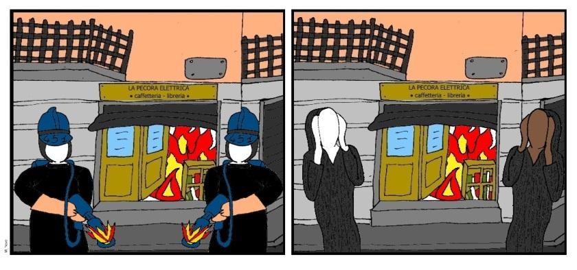 27 apr - Brucia la libreria indipendente... piange per il dolore la gente!.jpg