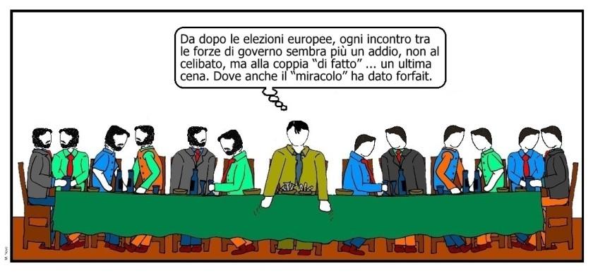 31 mag - Ultima cena ... eterna politica che pena!.jpg