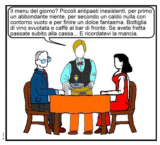 18 ago - Della crisi nessuno parla... neanche al ristorante nella fame di ciarla!