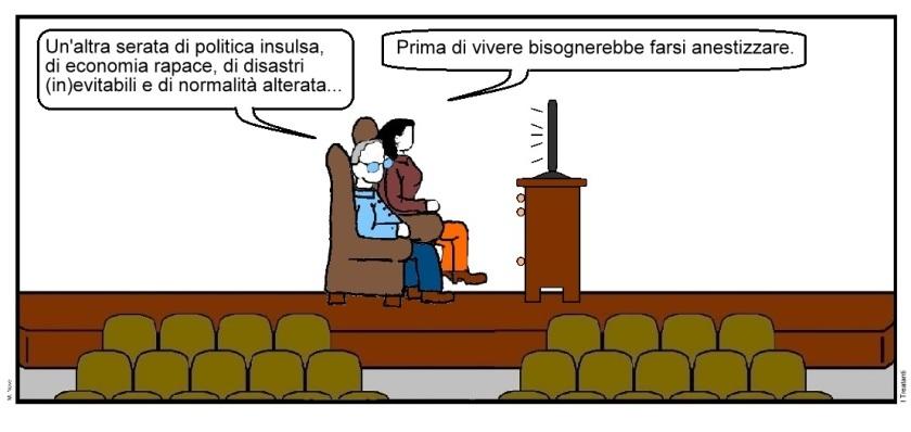 28 nov - La TV oblio dei popoli... la TV padrona del monopoli!