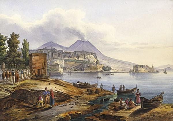 Napoli-Pizzofalcone-e-Castel-dellOvo.-Opera-di-Giacinto-Gigante-600x419